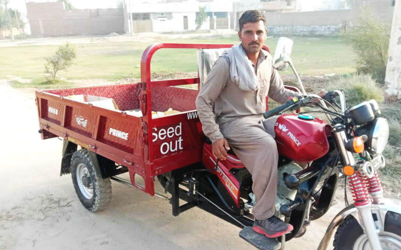 donations for motorised transport in pakistan
